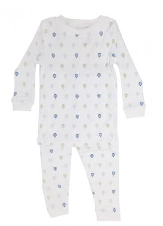Blue Green and Grey Hot Air Balloons PJs