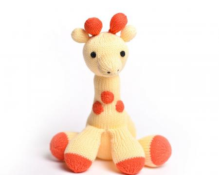 Lula Yellow Hand Knit Giraffe