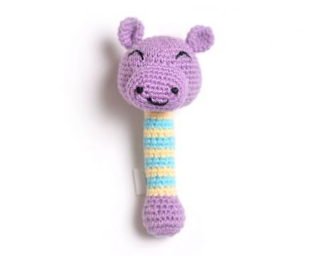 Hippo-Hand-Knit-Rattle