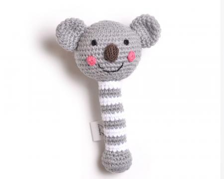 Hand Knit Koala Rattle