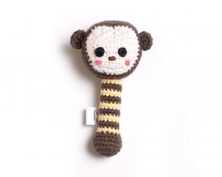 Hand Knit Monkey Rattle